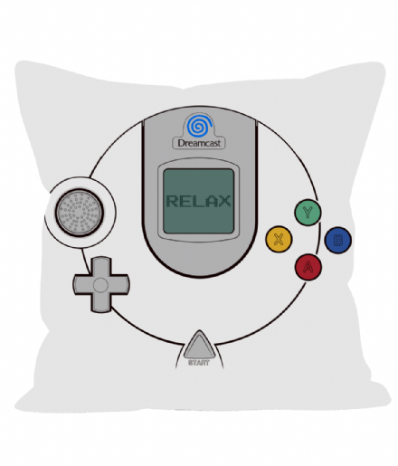 "12"" Cushion Linen Effect Dreamcast Controller Throw Pillow"
